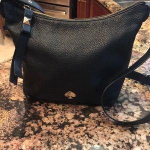 Kate Spade leather crossbody hobo bag
